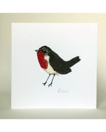 Sarah_becvar_design_robin_greetings_card_freehand_embroidery_bird