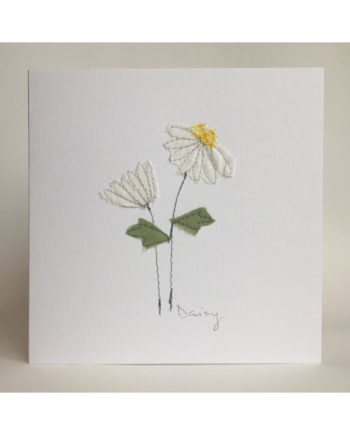 Sarah,becvar,design,floribunda,flowers,daisy,embroidery,card,birthday,notecard