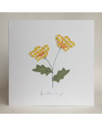 Sarah,becvar,design,embroidery,greetings,cards,floribunda,buttercup,notecard