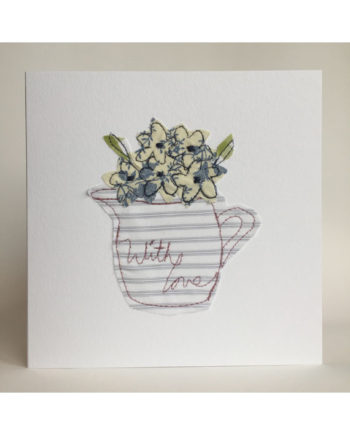 Sarah,becvar,design,embroidered,greetings,cards,flowers,