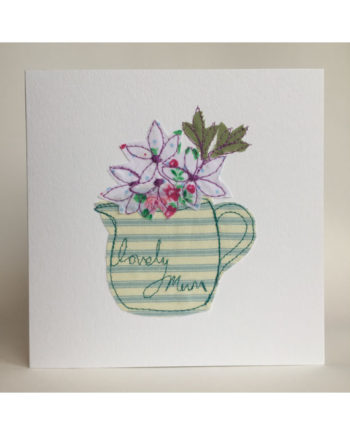 Sarah,becvar,design,greetings,cards,embroidery,flowers,mum
