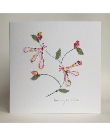 Sarah,becvar,design,embroidered,greetings,card,floriibunda,honeysuckle