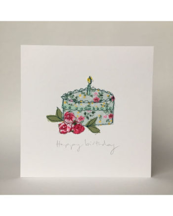sarah Becvar design freehand embroidered greetings cards handmade happy birthday crafted