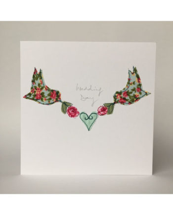 sarah Becvar design freehand embroidered handmade greetings cards wedding day