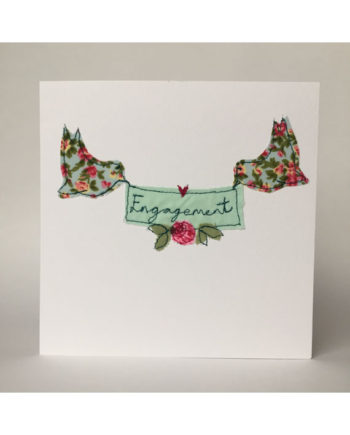 sarah Becvar design embroidered greetings cards engagement
