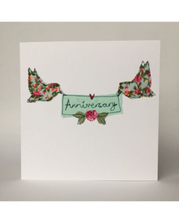 sarah becvar design freehand embroidered greetings cards anniversary handmade