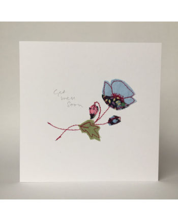 sarah becvar design freehand embroidered greetings cards floral flower get well