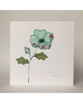sarah Becvar design embroidered greetings cards floral artwork flower with love