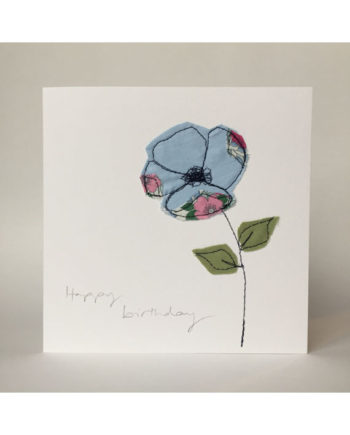 sarah Becvar design freehand embroidered greetings cards happy birthday flower floral
