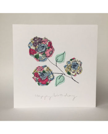 sarah Becvar design freehand embroidered greetings cards floral flower birthday